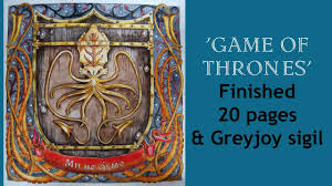 Colouring Book The Game Of Thrones Finished 20 Pages