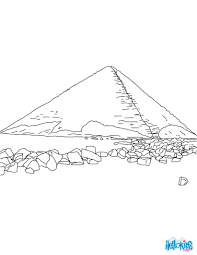 BEND PYRAMID OF SNEFRU RED To Color Online