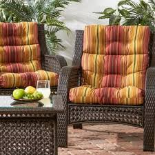 High Back Patio Chair Cushions by All Weather High Back Chair Cushions Set Of 2 Free Shipping