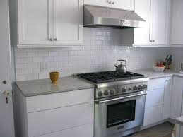 Grey Tiles With Grey Grout by White Subway Backsplash Tile And Now The After Grey Grout White