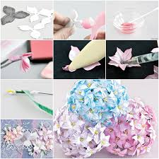 How To Make Ink Colored Paper Flower