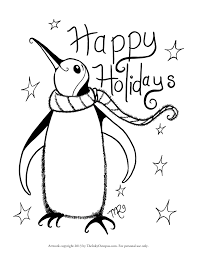 Holiday Coloring Page Printable Pages The Inky Octopus Of Animals