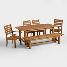 Round Dining Room Sets For 8 by Wood Praiano Outdoor Dining Table World Market