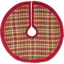 Cotton Cherry Red Rustic Christmas Decor Mini Tree Skirt