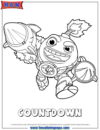 Skylanders Swap Force Tech First Edition Countdown Coloring Page
