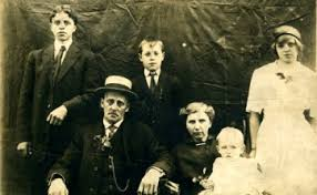 Grant And Ella Holding Baby Clarence Seated With Their Children Left To Right Edgar Merrill