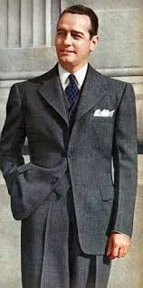 1943 Single Breasted Grey Suit Links To An Excellent Overview Of Mens Fashion