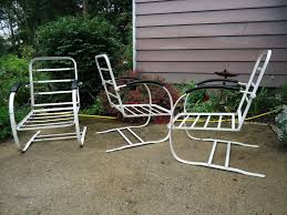Vintage Russell Woodard Patio Furniture by Howell Bouncers Vintage Metal Porch Chairs Pinterest