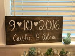 Save The Date Sign Rustic Wedding Decor Engagement Photos Personalized Gift