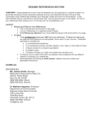 Examples Of References Resume Format How To Write Reference For Job