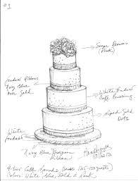 Drawn wedding cake 15