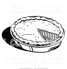 Bake Pumpkin For Pies by Vector Coloring Page Of A Black And White Freshly Baked Pumpkin