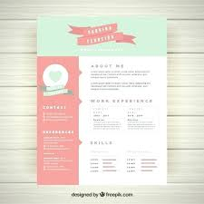 Free Download Creative Resume Templates Best Of Pretty Cute Template Vector Word Doc Fr