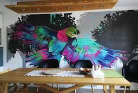 ein vogel im esszimmer graffitiartist