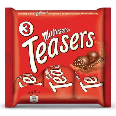 Maltesers Teasers Chocolate Multipack Bars - 35g, 3pk