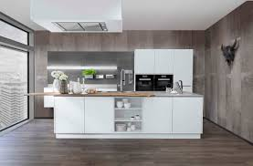 luxus küche mit insel metallic colour stahl küchen