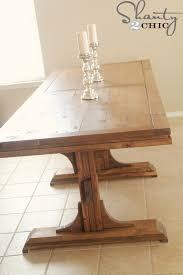 Ana White Sofa Table by Ana White Triple Pedestal Farmhouse Table Diy Projects