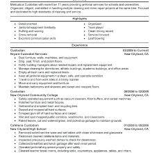 Sample Job Description For Church Janitor Resume Custodial Supervisor Examples
