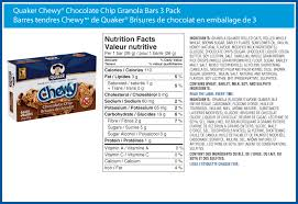 8 Simple Ways To Chocolate Chip Chewy Bar Nutrition Facts
