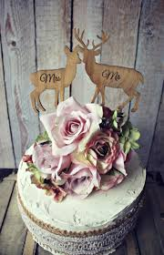 Deer Bride Groom Wedding Cake Topper Lover Hunting Hunter Camouflage Rustic On Sticks Mr And Mrs Custom Set Grooms Animal Buck