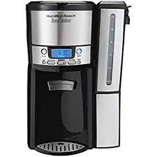 Hamilton Beach 47950 Coffee Maker With 12 Cup Capacity Internal Storage Pot Brewstation Black Stainless Steel