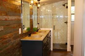Rustic Barn Bathroom Lights by Rustic 3 4 Bathroom With Double Sink U0026 Pendant Light In Conway Ar