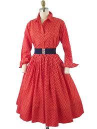 60s Red Polka Dot Taffeta Dress 1960s Vintage Dresses