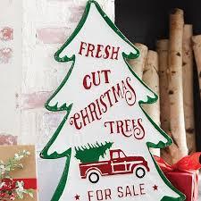 Fresh Cut Christmas Trees Holiday Wall Sign