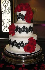 Creative Black White And Red Wedding Cake