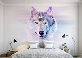 keshj benutzerdefinierte fototapete 3d tier wolf wandbild