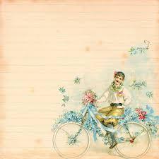 Scrapbook Romantic Vintage Bicycle Digital Paper