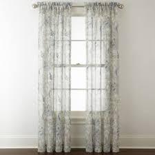 Jcpenney Sheer Curtain Rods by Royal Velvet Cholet Rod Pocket Sheer Curtain Panel Jcpenney
