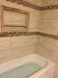 custom bathroom remodeling large format tile install w soaker
