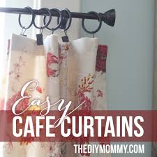 Fabric For Curtains Diy by Sew Easy Cafe Curtains The Diy Mommy