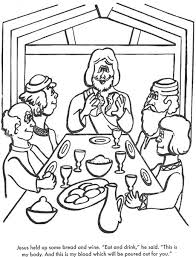 The Last Supper Bible Coloring Page For Kids To Learn Stories
