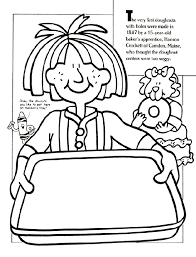 Doughnut Hole Inventor Coloring Page
