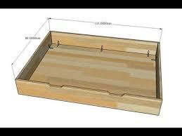 faire un tiroir de rangement pour lit évolutif
