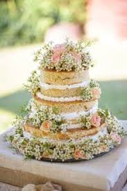 Beautiful Naked Cake With Spring Flowers Is A Great Inspiration For Trendy Wedding
