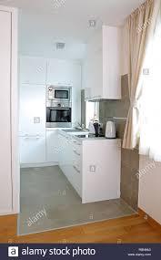100 Small Modern Apartment White Kitchen In Stock Photo