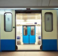 Subway train stock image Image of doors subway hall