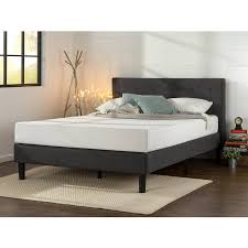 Bed Frames In Walmart by Zinus Upholstered Diamond Stitched Platform Bed With Wooden Slats