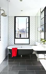 mirror backsplash tile bathrooms design grey subway tile shower