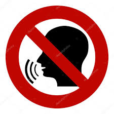 No Stop Sign Forbidden Head Talking Silhouette Of A With Sound Waves Ban The Dissemination Information Gossip Censorship