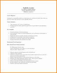 Medical Front Desk Resume Objective by Dental Assistant Resume Objective Resume For Your Job Application