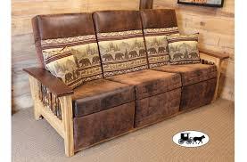 Wall Hugger Reclining Sofa by Amish U0026 Adirondack Style Futons Sofas And Love Seats