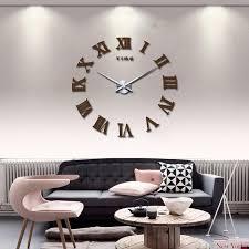 großhandel umweltfreundlich 47inch promotion neue wohnkultur große spiegel fashion modern quartz uhren wohnzimmer diy wanduhr aufkleber uhr