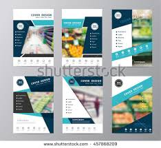Annual Report Cover Layout Template Vector Stock Vector