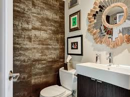 columbus metallic porcelain tile powder room contemporary with