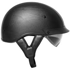 Outlaw T72 Black Synthetic Leather DualVisor Motorcycle Half