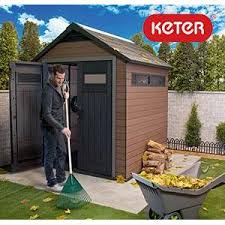 Keter 10x8 Stronghold Shed by Amazon Com Keter Manor Large 6 X 8 Ft Resin Outdoor Backyard